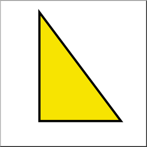 Clip Art: Shapes: Triangle: Right Color Unlabeled I abcteach.
