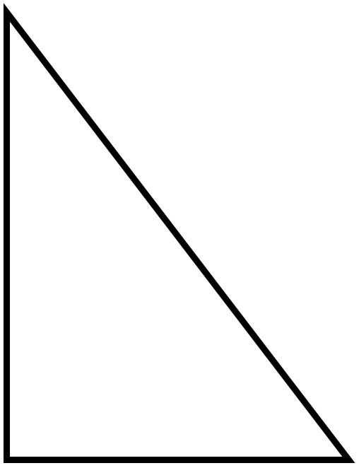 Download right triangle printable clipart Right triangle.