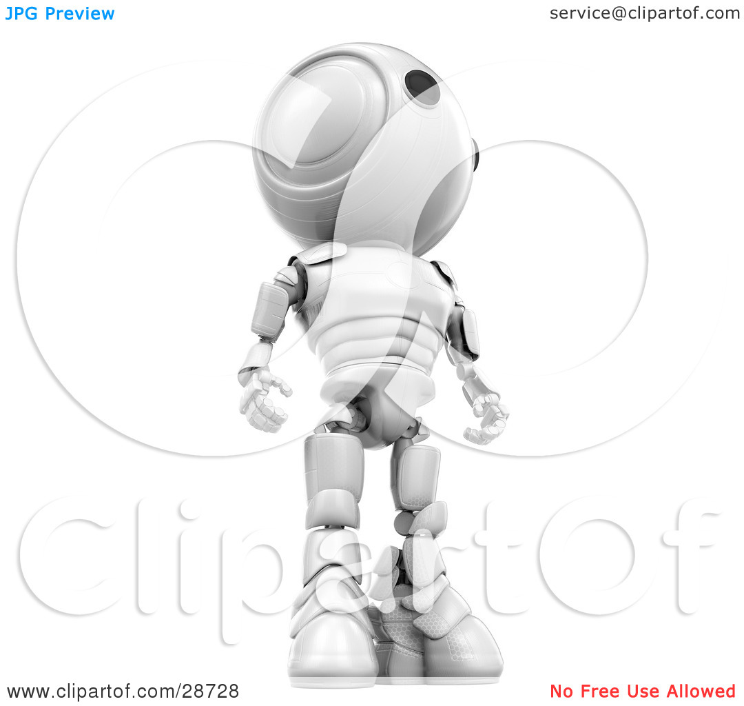 Clipart Illustration of a Tall White AO.
