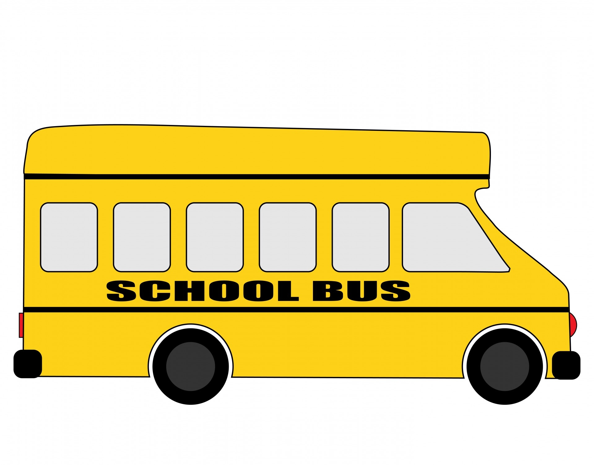 School bus side view right clipart.