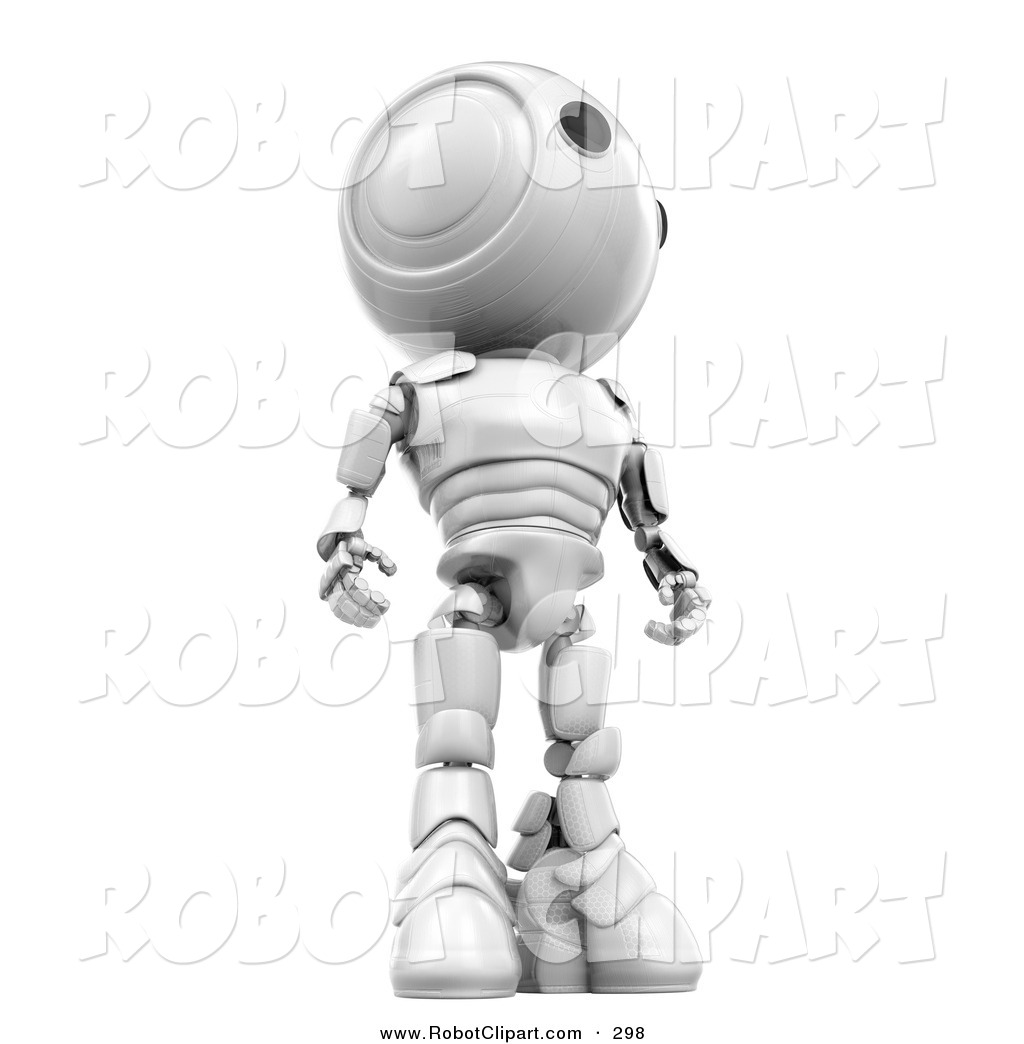 3d Clipart of a Proud and Tall White AO.