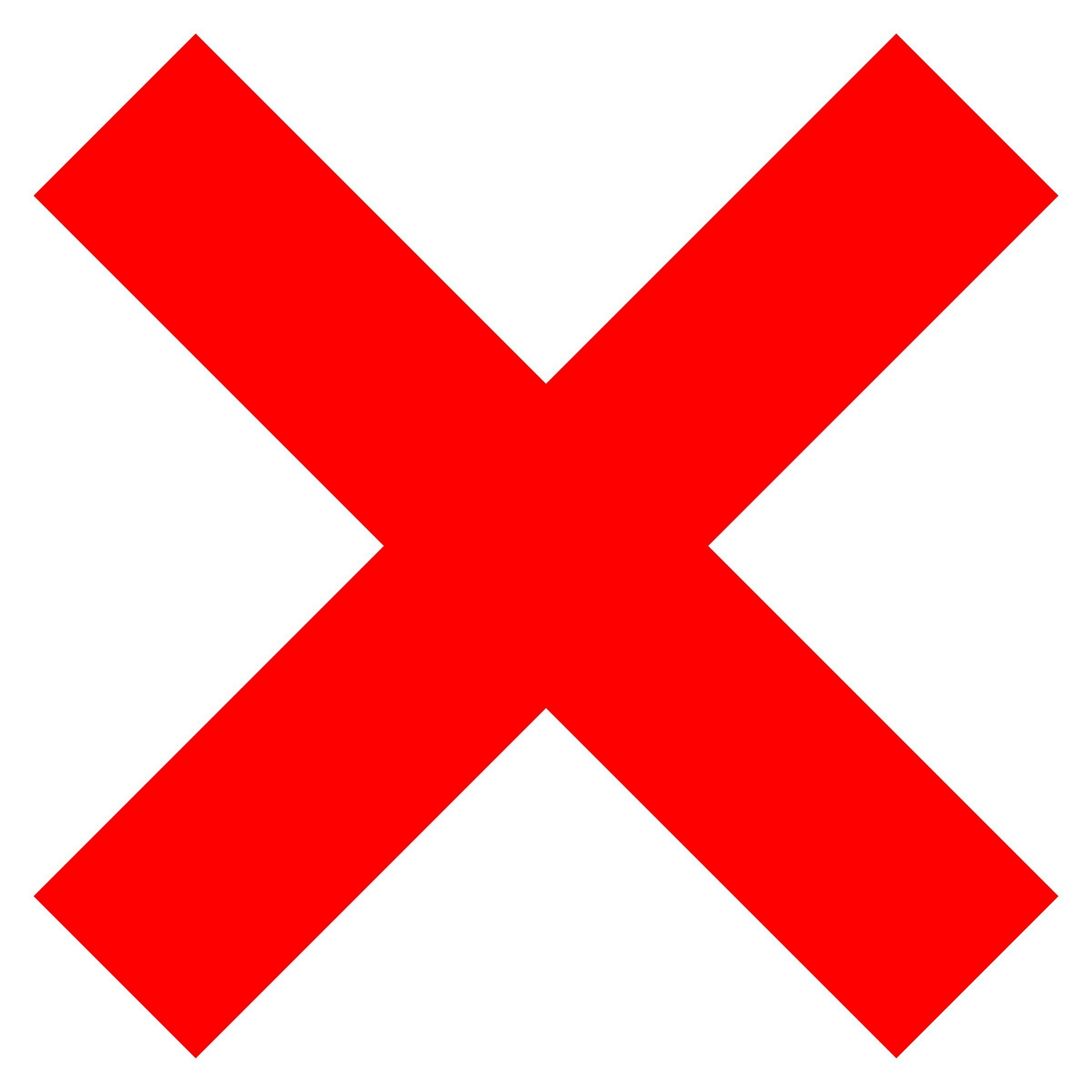 Wrong Symbol Clipart.