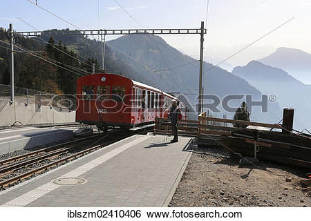 "Stock Images of ""Cable car to Mount Rigi, Switzerland, Europe."