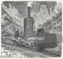 Rigi Locomotive, 1871 stock vectors.