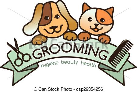 Clipart Vector of Grooming logo.