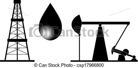 Land Oil Rig Clipart.