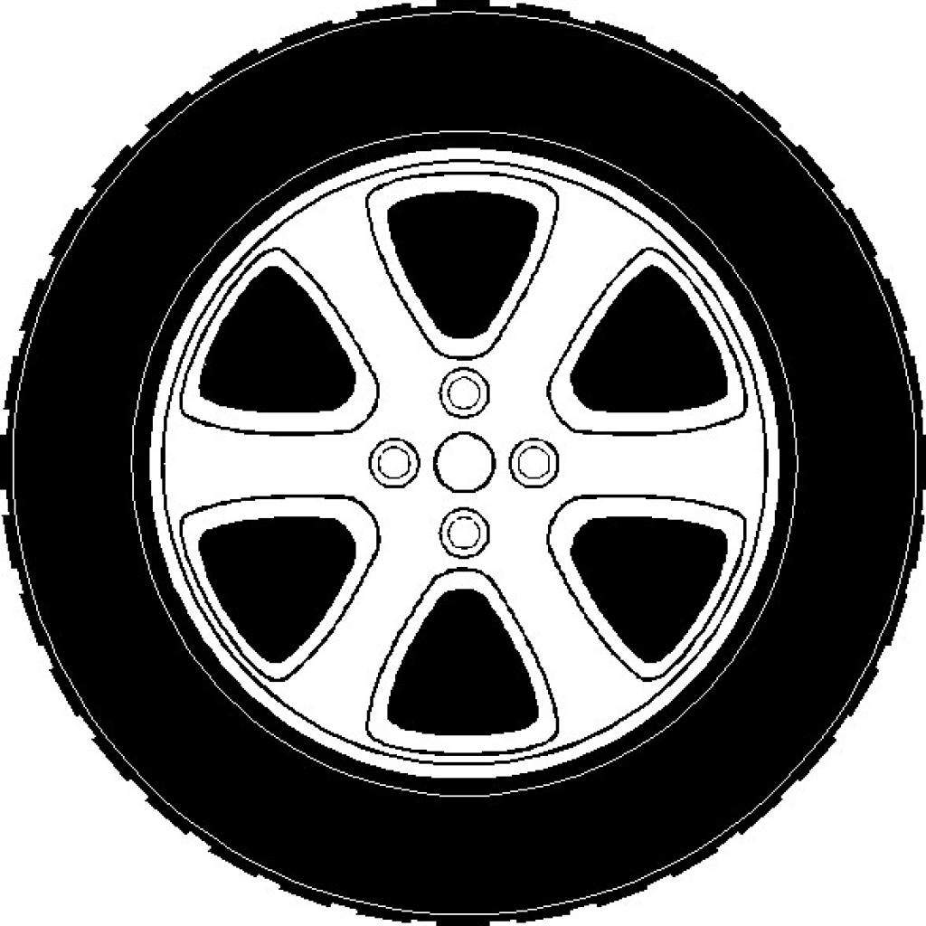 Wheel rims clipart #12