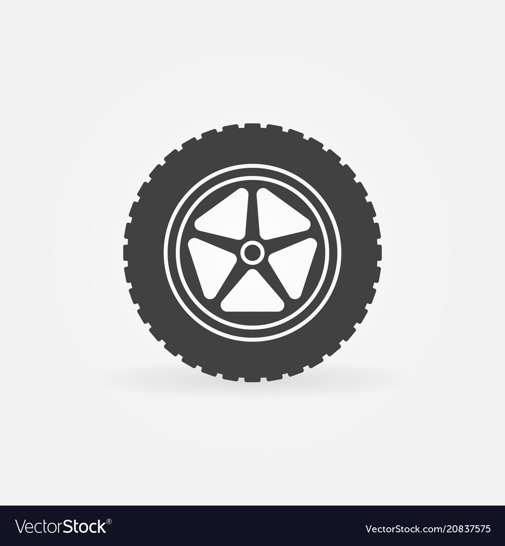 Car wheel with tire icon or logo element.