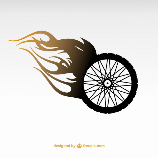 Motorcycle wheel logo Vector.