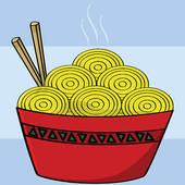 100 Noodles Clipart.
