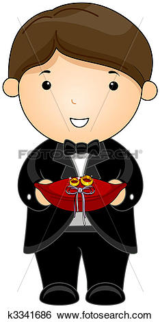 Stock Illustration of Ring Bearer k3341686.