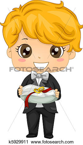 Clipart of Ring Bearer k5929911.