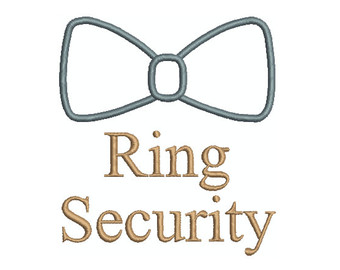 Ring bearer security.