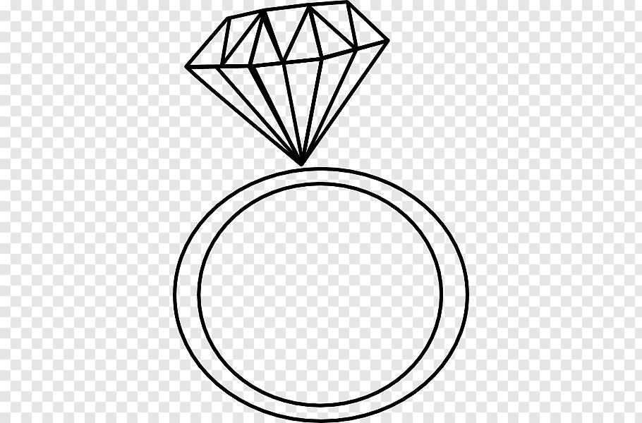 Engagement ring Diamond Wedding ring, Black And White.