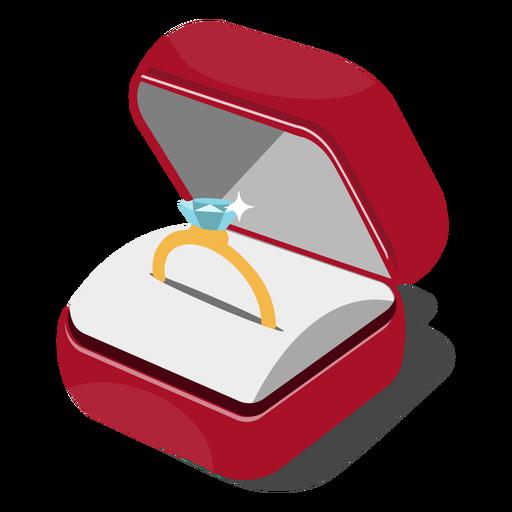 Ring box illustration.