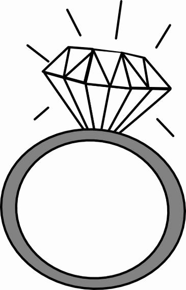 Diamond ring clip art black and white New Wedding ring.
