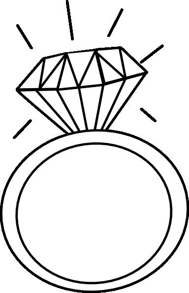 Engagement Ring Outline Clip Art 2 ….