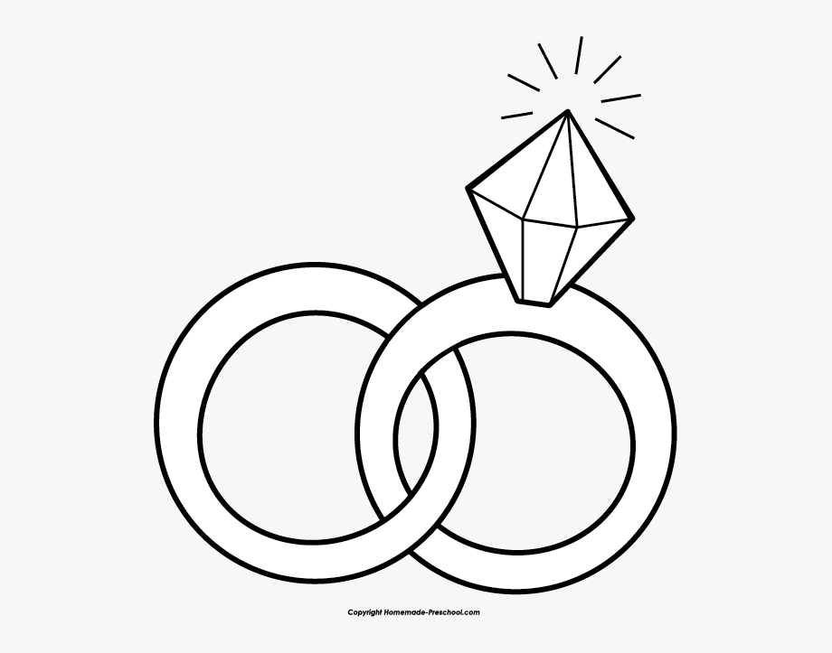 Linked Wedding Rings Clipart Free.