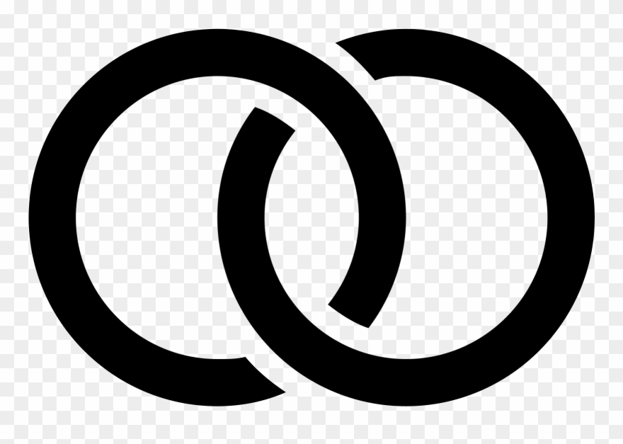 The Icon Of Wedding Rings Consists Of Two Circles Linked.