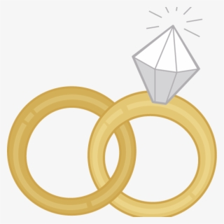 Free Interlocking Wedding Rings Clip Art with No Background.