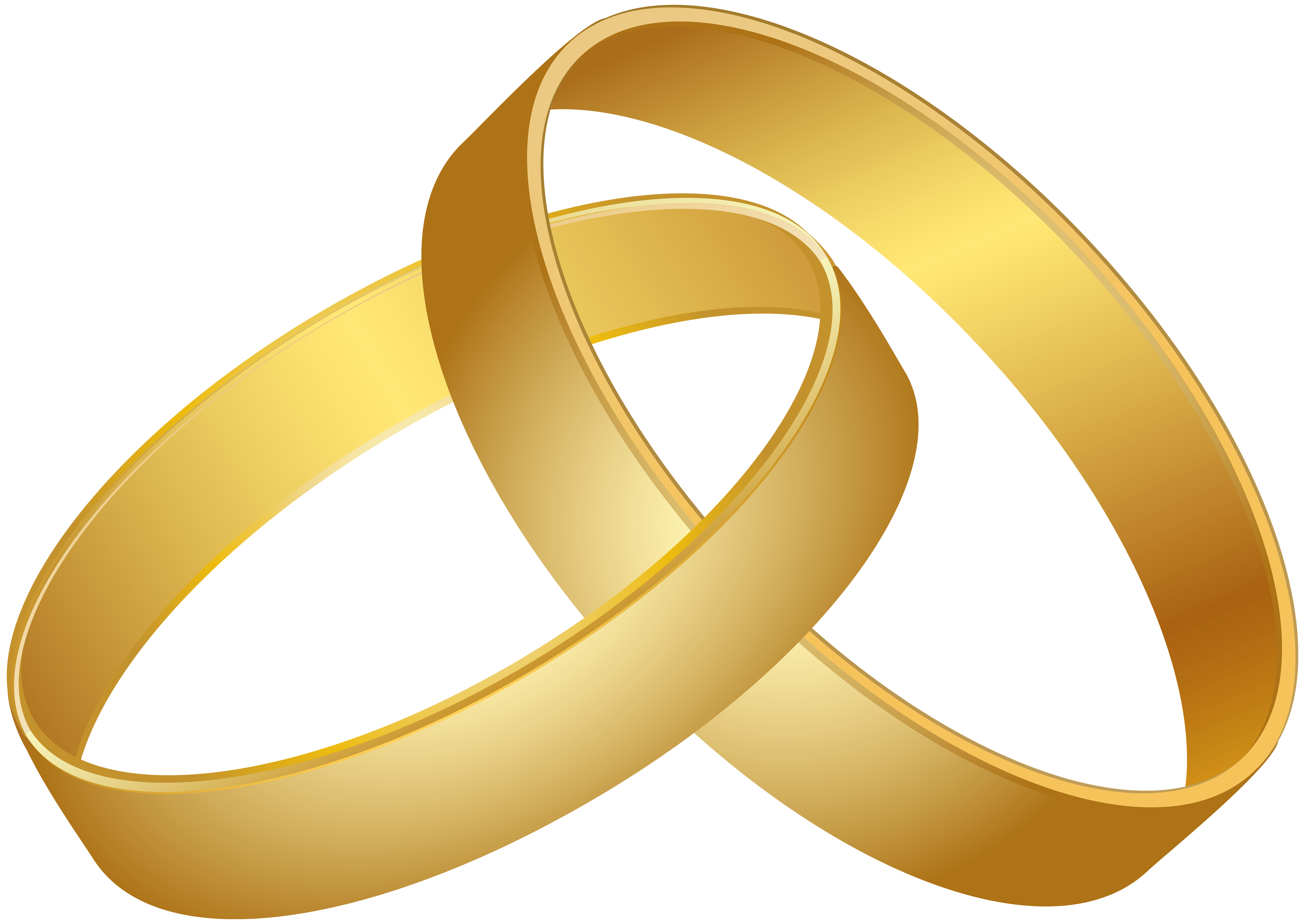 Wedding Rings Gold PNG Clip Art.