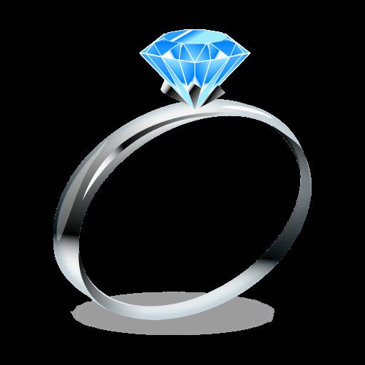 Wedding ring Emoji Jewellery Gemstone.