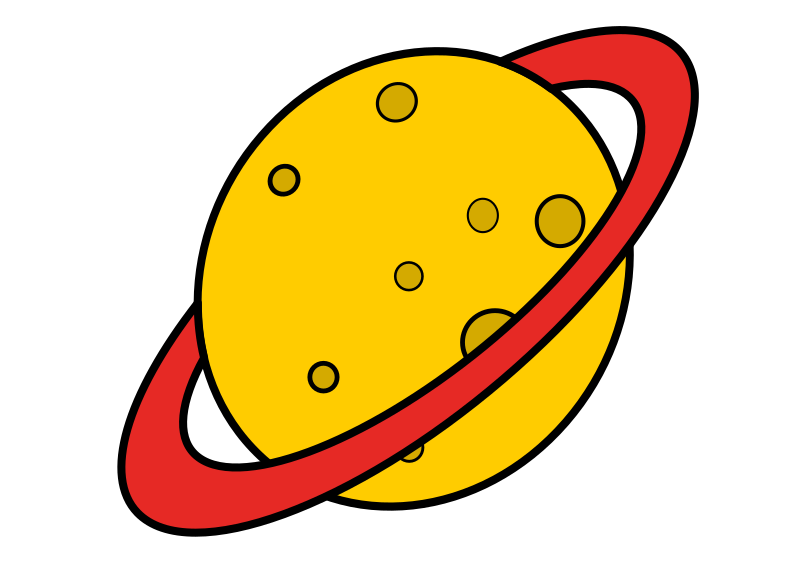 Planet with Ring Clipart.
