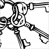 Keyring Key Ring clip art.
