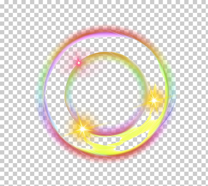 Color ring light effect, round multicolored abstract art PNG.