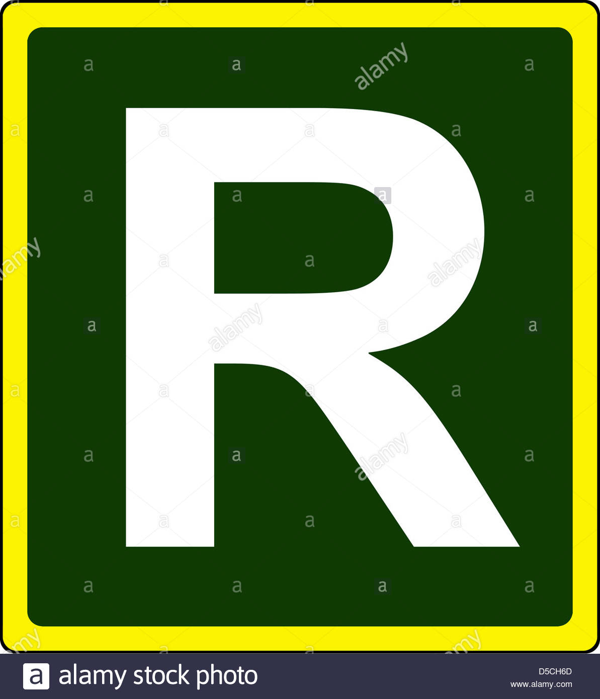Primary Route Ring Road Sign Stock Photo, Royalty Free Image.