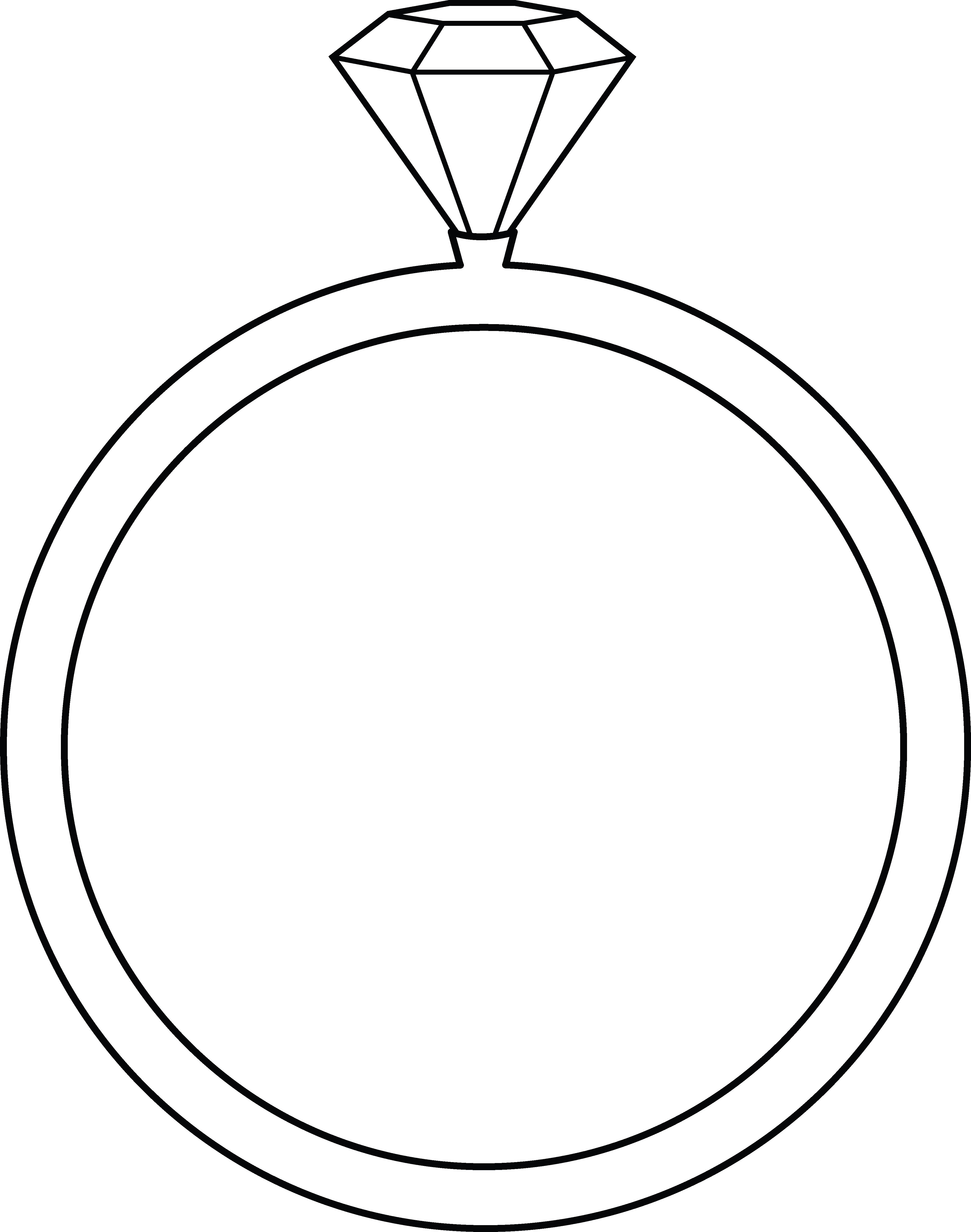 Diamond Ring Lineart.