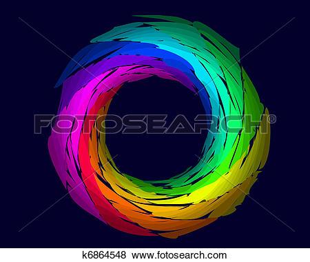 Clip Art of color rainbow ring k6864548.