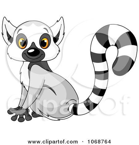 Ring tailed lemur clipart.