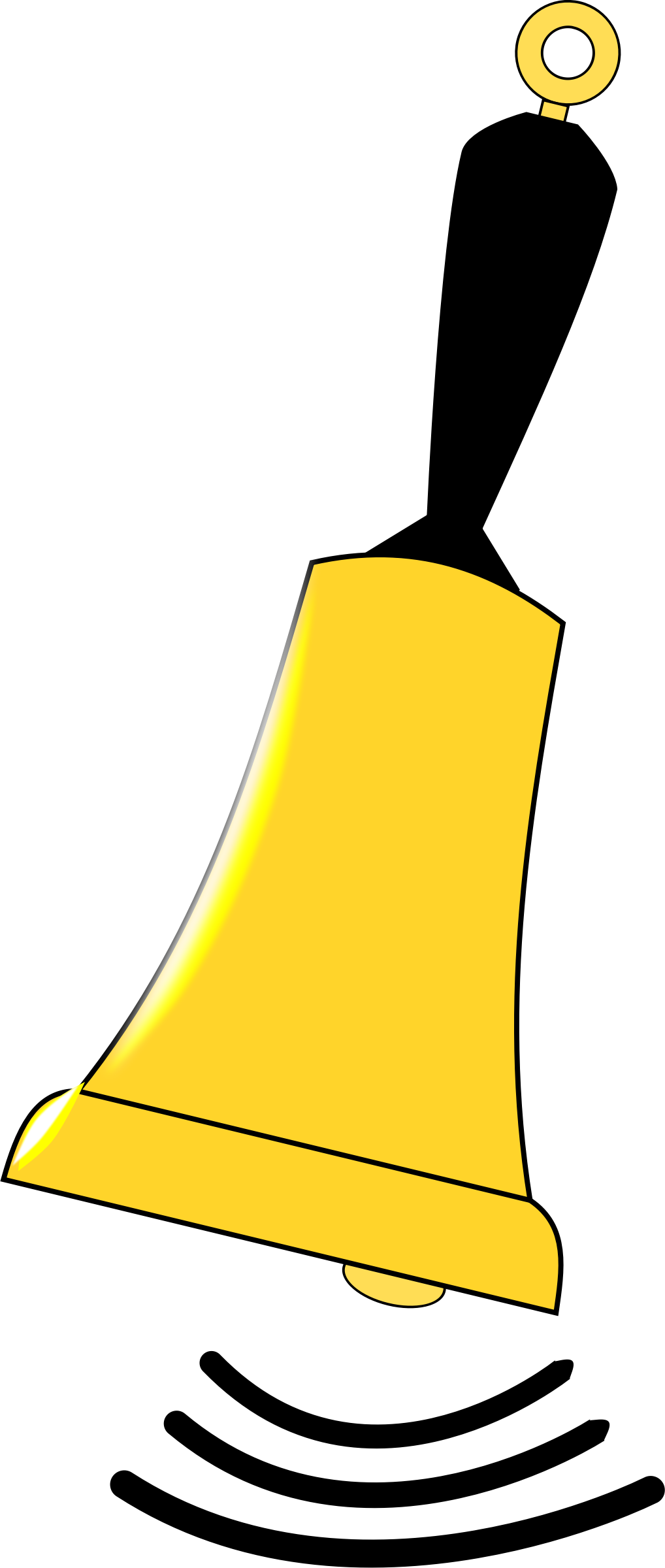 Ringing School Bell Clipart.