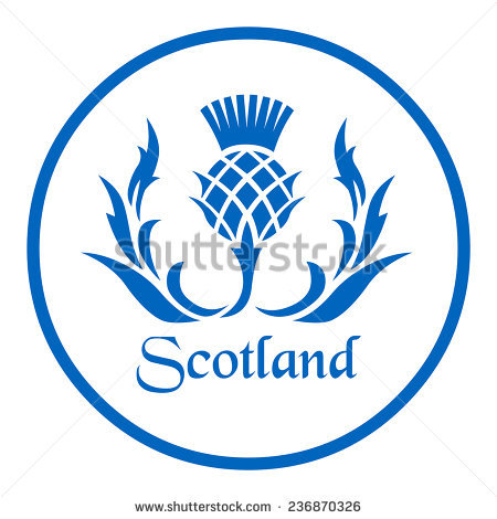 Scottish Thistle Stock Photos, Royalty.