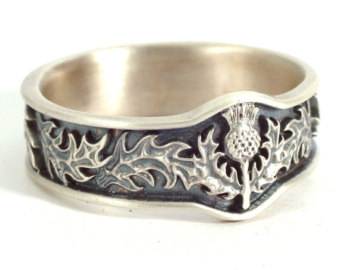 View Thistle Rings by CelticEternity on Etsy.