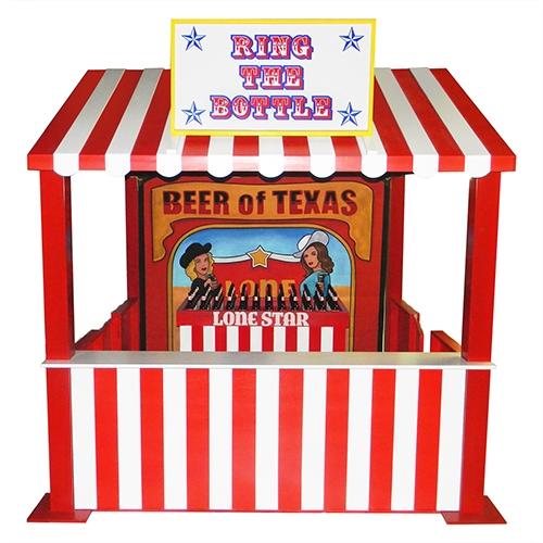 Beer Bottle Ring Toss Carnival Game.