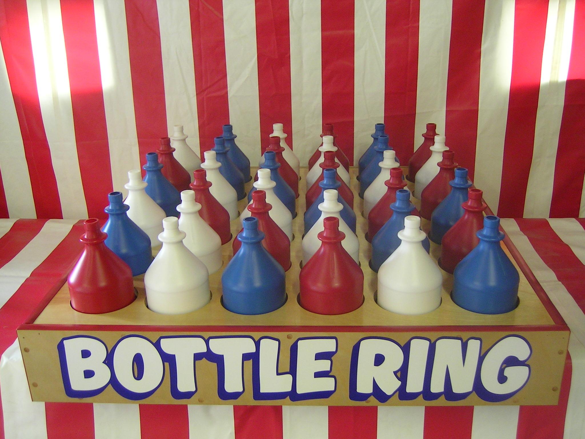 Bottle Ring Toss Clipart.