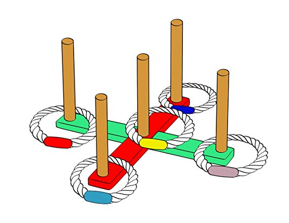 10 MABUA® Rope Quoits for Ring Toss Games, Payless Get More.