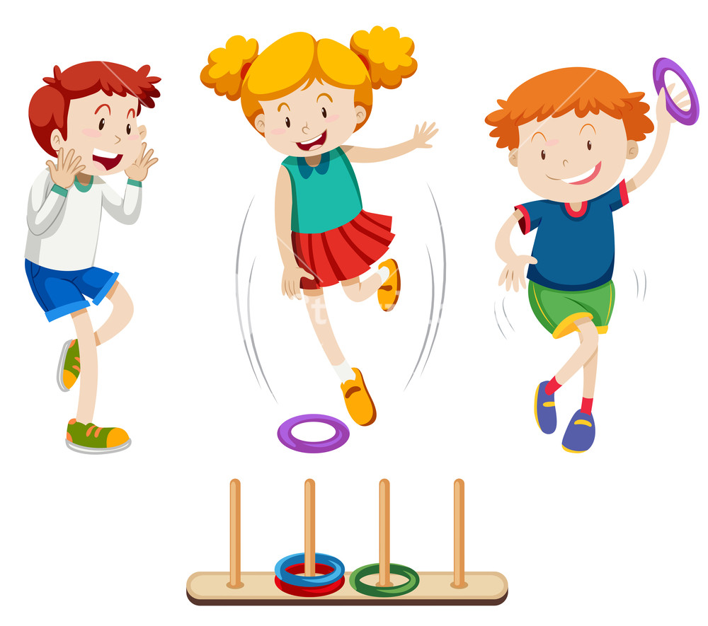 Children playing ring toss Royalty.