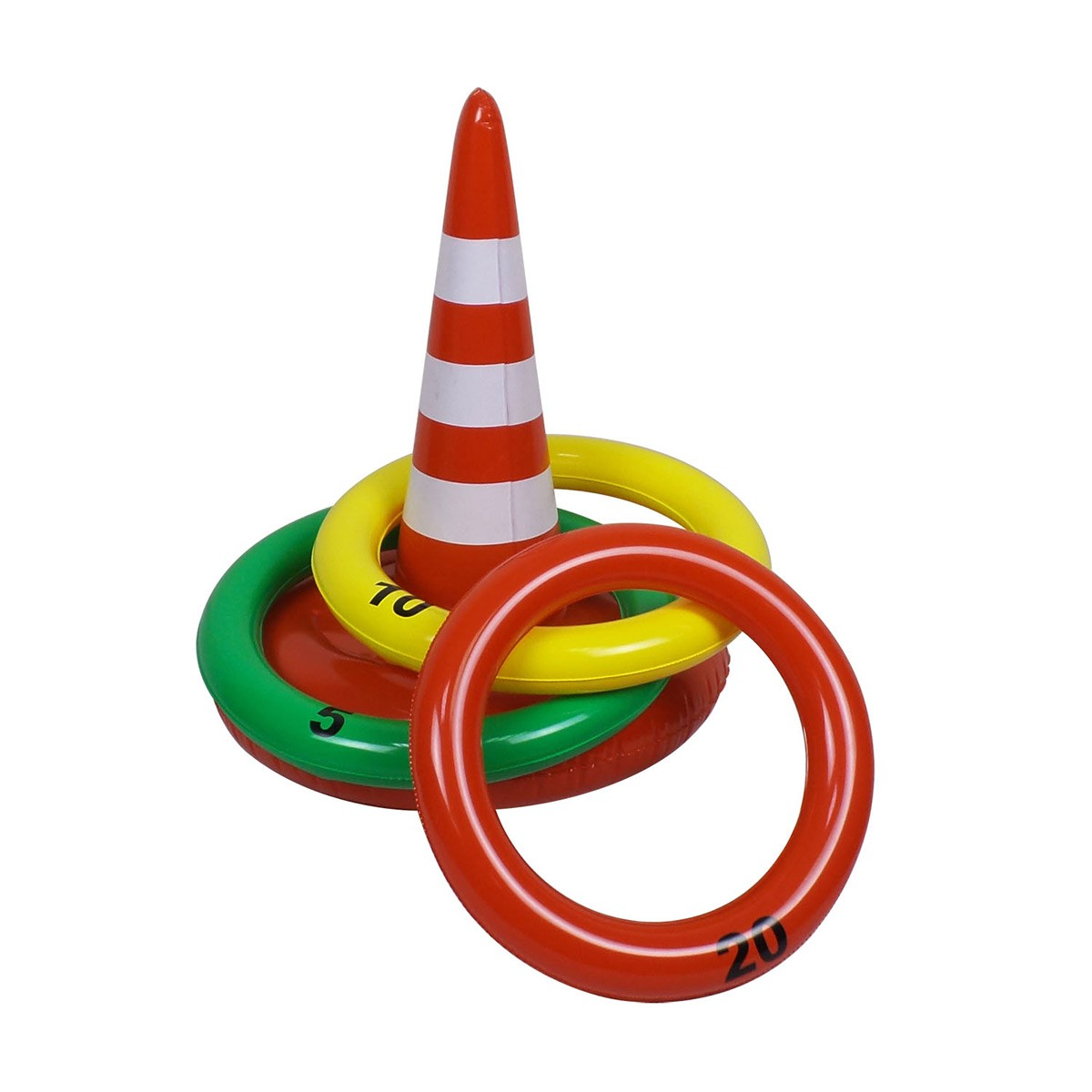Traffic Cone Inflatable Ring Toss.