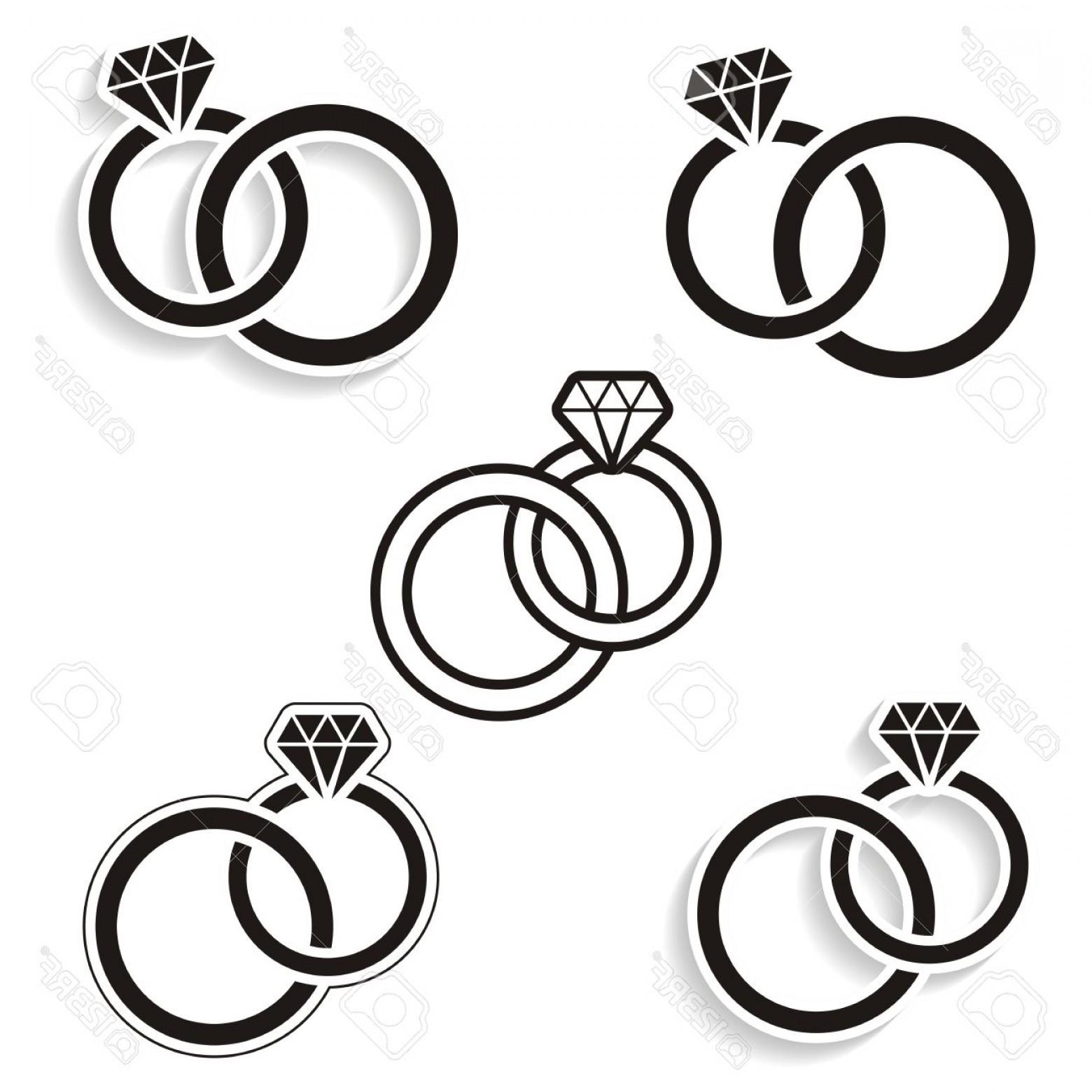 Hd Black Diamond Ring Vector Draw.