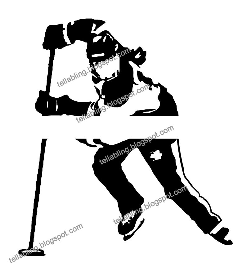 Ringette Vinyl Decal Design ready for a name to be.