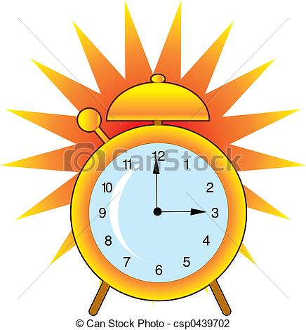 Clip Art of Alarm Clock.