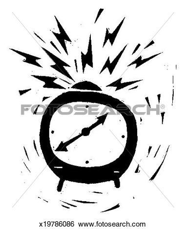 Stock Illustration of Ringing Alarm Clock x19786086.