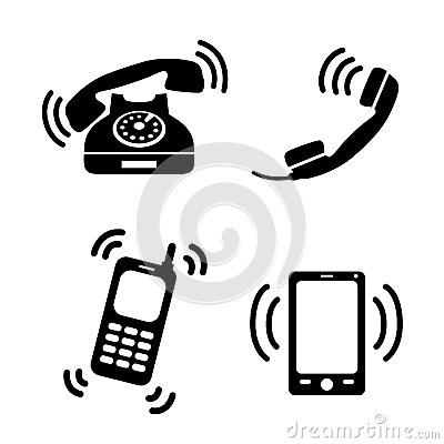 Ringing Telephone Clipart.