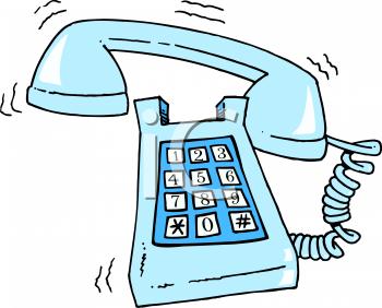 Phone ringing clip art.