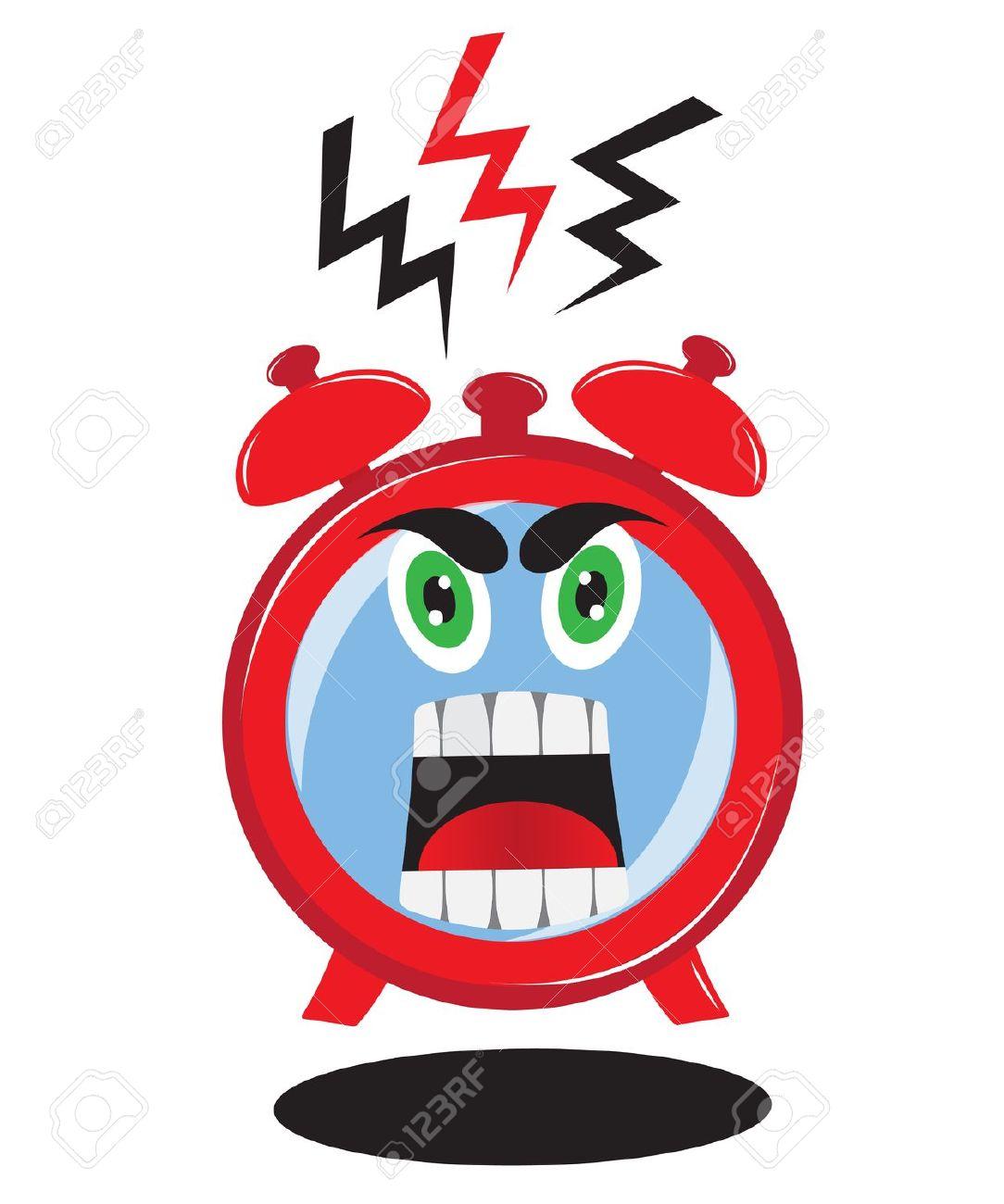 Alarm Clock Ringing Clip Art.