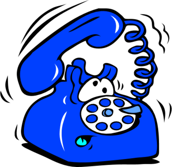 Clipart telephone ringing clipartfest.
