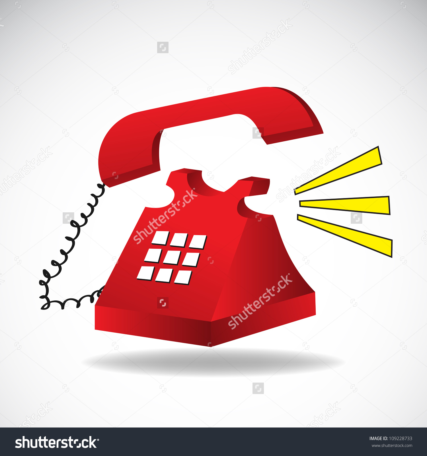 Ringing Phone Vector. Clip.